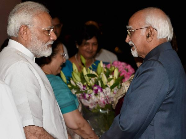 PM Modi to Hamid Ansari: You can now follow your basic ideology and instinct