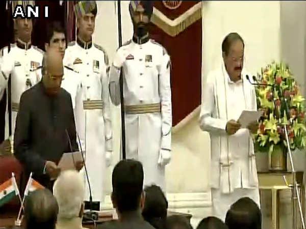 M Venkaiah Naidu Takes Oath As The Next Vice President Of India