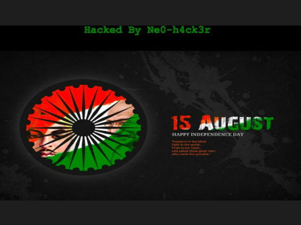 Pakistan Govt Website Hacked Hackers Post Indian National Anthem Independence Day Greetings