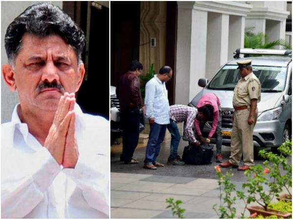 Minister DK Shivakumar keeps mum about Offer by BJP and IT raid