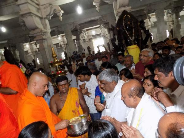 Amavasye Pooja Hd Revanna Minister Jayachandra At Kalabhyraveshwara Temple