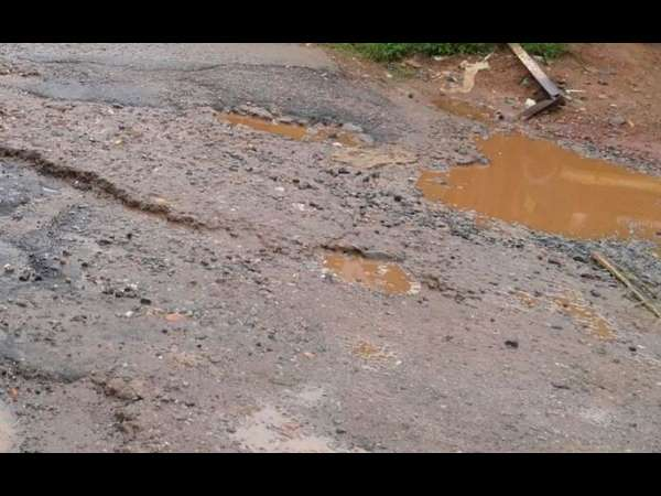 Many roads in madikeri are damaged due to heavy rain