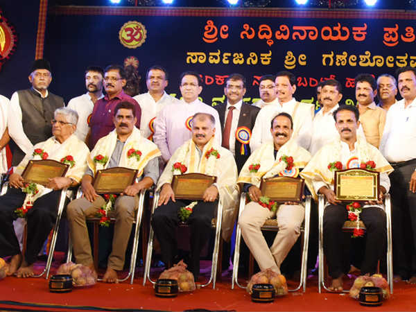 Religious meeting and felicitation organized by Sri Siddhivinayak Foundation in Mangaluru
