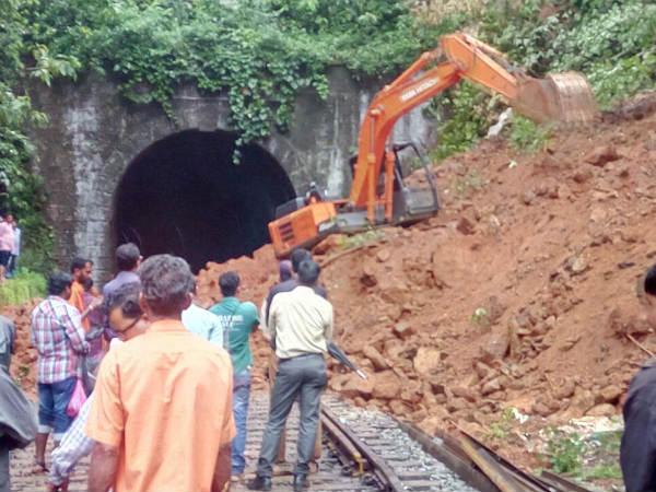 Landslide In Ghat Section Between Sakaleshpur And Subrahmanya Railway Station