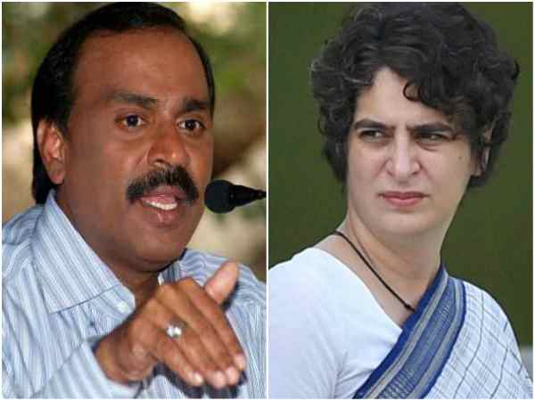 IT raid on DK Shivakumar: Priyanka Gandhi lashes out against BJP on Twitter