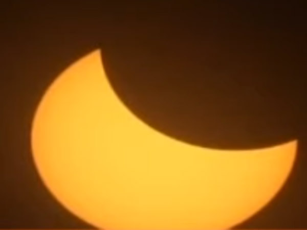 Solar eclipse starts in America's Oregon