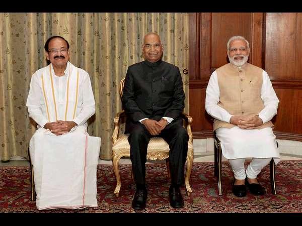 In Pics Venkaiah Naidu Takes Oath As 13th Vice President Of India