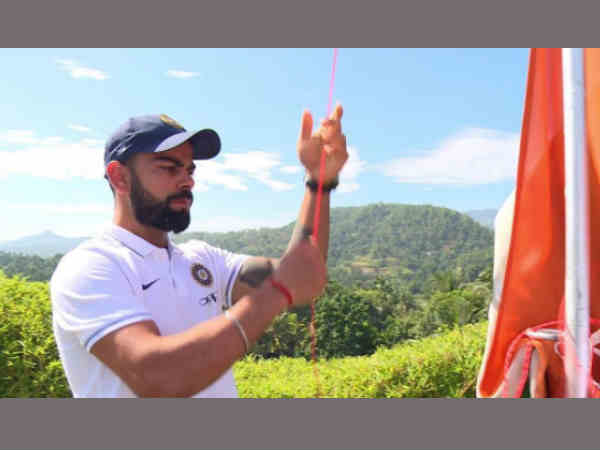 Independence Day 2017 Indian Cricket Team Hoist Tricolour Kandy Of Sri Lanka