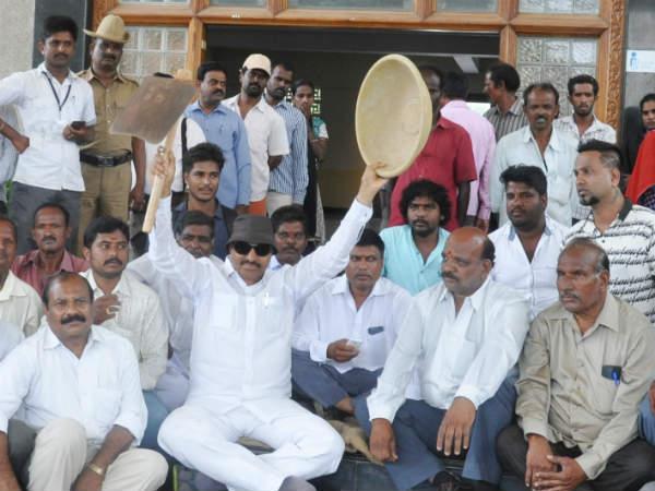 Vatal Nagaraj Protest In Chamarajanagar