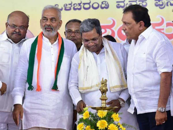 Water released to Canals from KRS reservoir says CM Siddaramaiah in Mandya