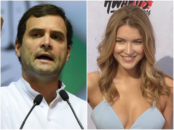 Social Media Abuzz With Rahul Gandhi Pic With Spanish Actress Nathalia