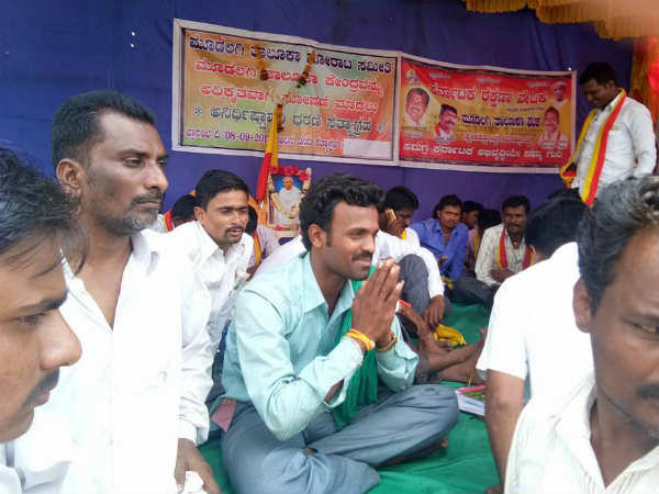 Protest steps into the sixth day demanding for Moodalagi taluk in Belagavi