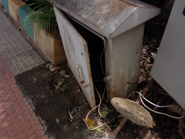 Bengaluru Parks Becoming Dangerous With Open Electric Junction Box