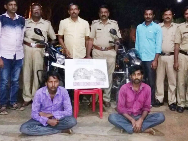 Periyapatna Police Have Arrested Two People On Theft Charges