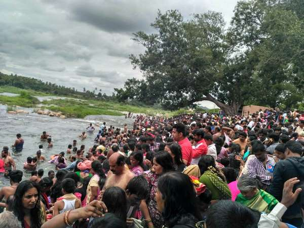 Thousands Of Devotees Take Part In Cauvery Pushkara Srirangapatna