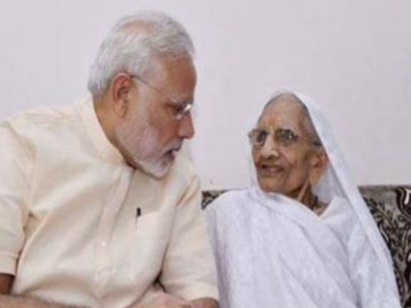 Pm Modi Seeks Mother Heera S Blessings On His Birthday