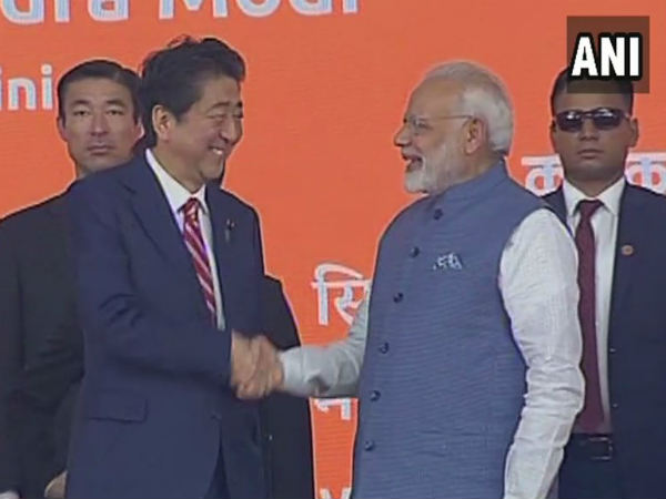 Modi Abe Inaugurates India S 1st Bullet Train Project In Ahmedabad