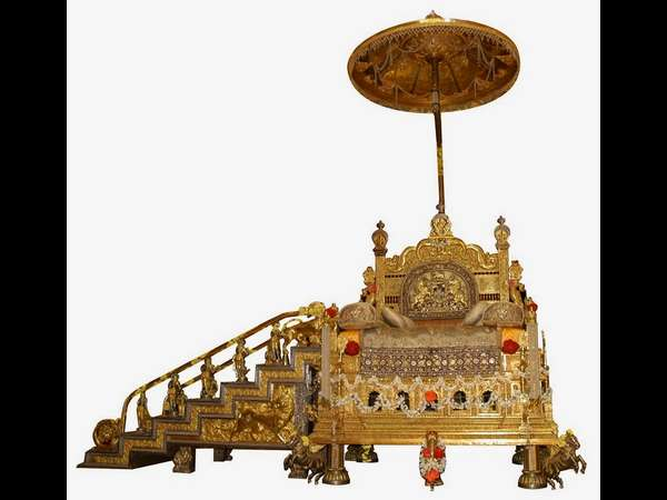 A Traditional Ceremony Set Out Jeweled Throne Mysuru Palace On Sep 15th