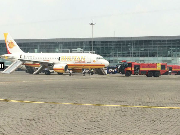 Smoke detected from Royal Bhutan Airlines flight at Kolkata airport
