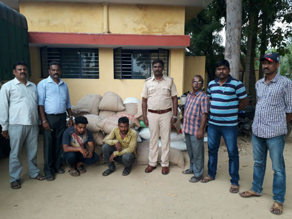 Thieves Who Robbed Anna Bhagya Scheme Rice Are Arrested By Police In Chamarajanagara