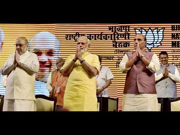ರಾಷ್ಟ್ರೀಯ ಕಾರ್ಯಕಾರಿಣಿ: 2019 ರ ಲೋಕಸಭಾ ಚುನಾವಣೆ ಮೇಲೆ ಬಿಜೆಪಿ ಕಣ್ಣು