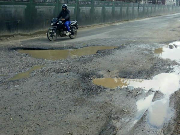 Bengaluru Potholes Life Is Very Less