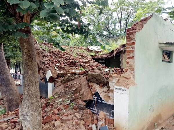 Rain in Chamarajanagara: Many buildings and dams are collapsing