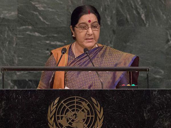 Twitterati Lauding Sushma Swaraj After Her Deadly Speech Against Pak In Un