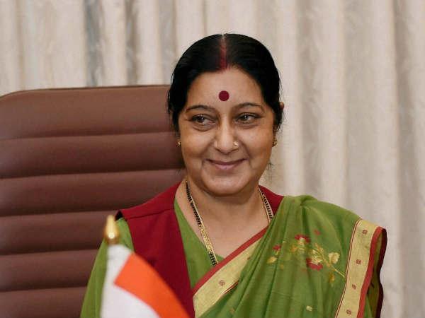 Sushma Swaraj Meets Srilankan President Sirisena