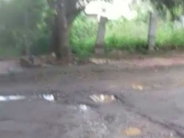 Rajarajeshwari Nagar residents demands for road repair