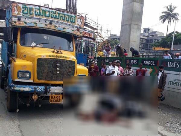 Potholes Claims Life Of Scooter Borne Woman At Nayandahalli Junction