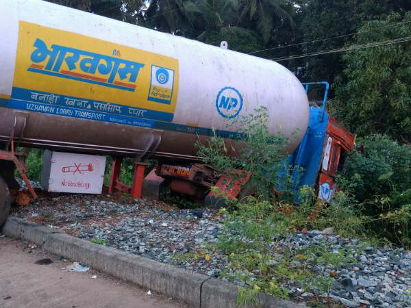 Kumata Villagers Feared As Gas Tanker Met With Accident In Bargi