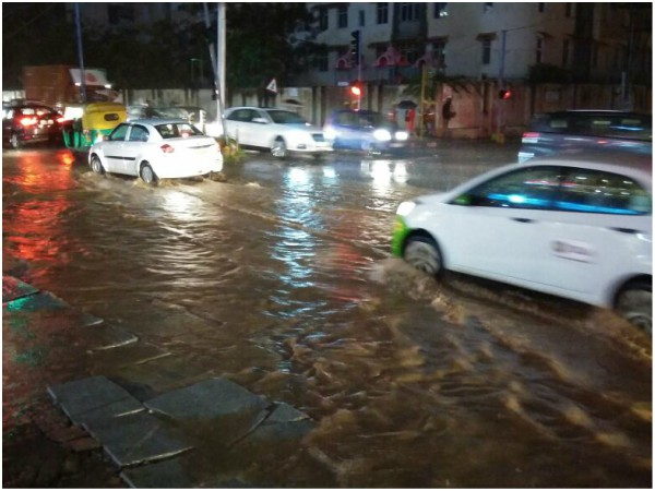 Heavy rain lashes out Bengaluru on October 8th night