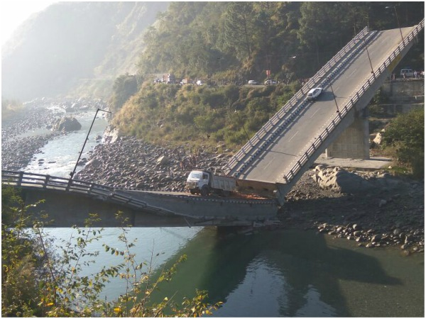 Six Injured After A Bridge Collapsed Himachal Pradesh
