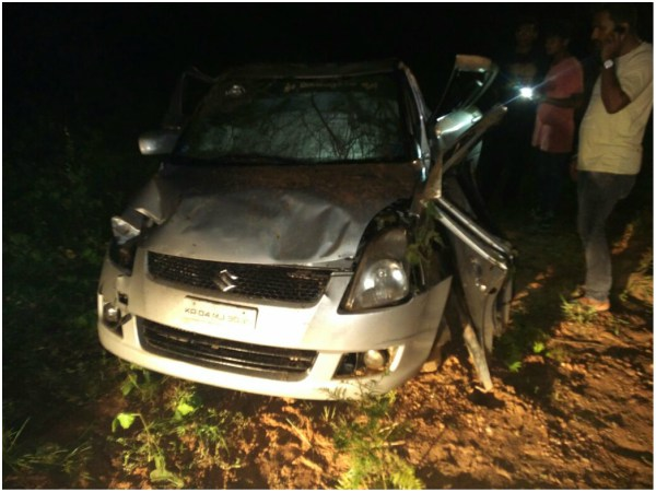 Three people killed in a car accident in Ramanagara
