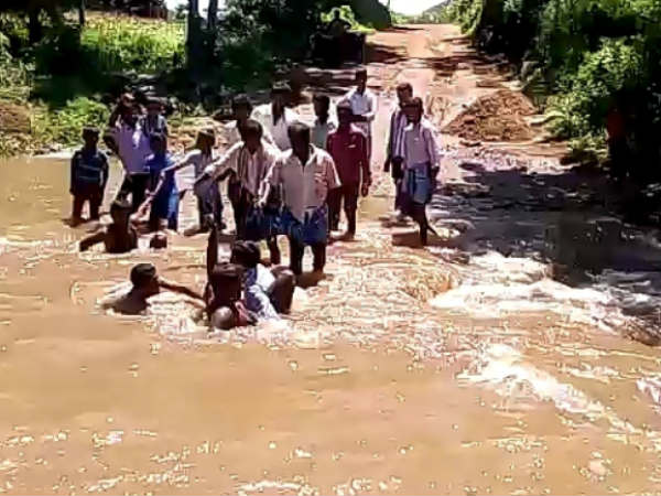 Bridge Washed Away Due To Heavy Rain In Chamarajanagar