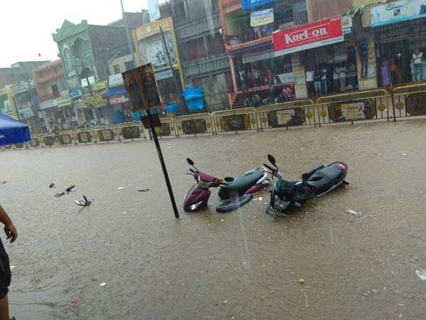 Heavy Rain Lashes Chitradurga Normal Life Affected