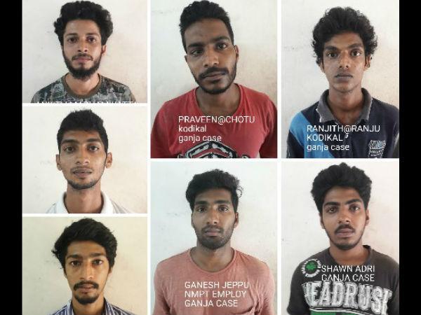 Mangaluru Anti Rowdy Squad Arrests 7 Youth For Consuming Ganja
