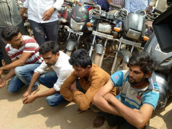 Hubballi Police Arrests Many Thieves Who Have Stolen Vehicle