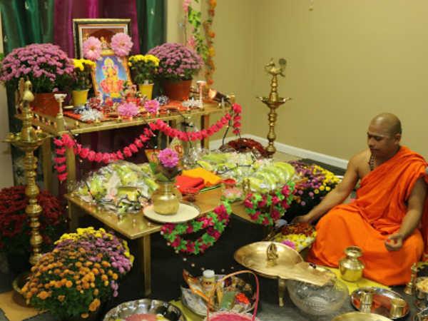 Deepavali Celebrated At Adichunchanagiri Math In New Jersey