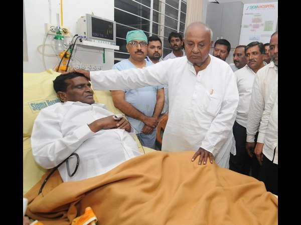 KD Kote JDS MLA Chikkamadu in critical condition