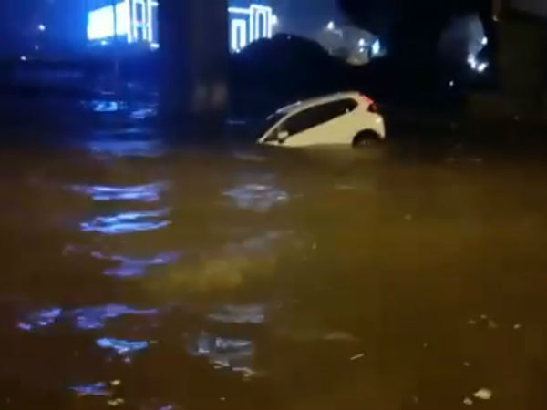 How Bengaluru Woman Rescued From Flood Video Viral