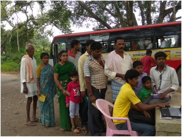 Villagers Are Struggling To Get Ration In Ramanagara Due To Internet Problems