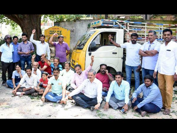 Protest Against Shivamogga City Corporation Tree Felling
