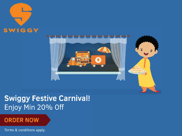 Day & Night Food Delivery! Opt SWIGGY Now Get 20% Cashback