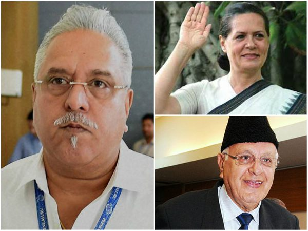 Did Sonia and Farooq get favours from Mallya