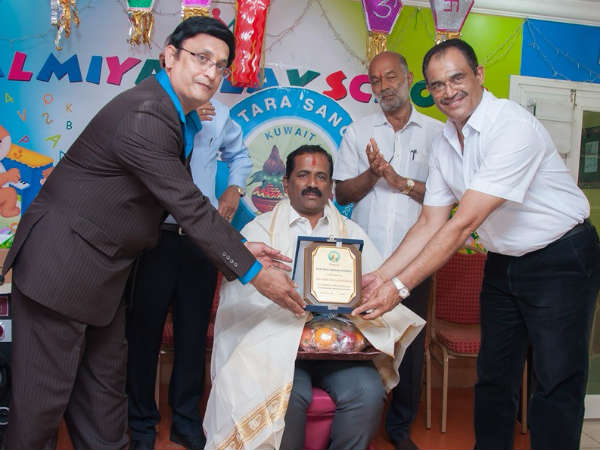 Vishu Shetty and Leeladhara Shetty felicitated by Bunts Sangha Kuwait
