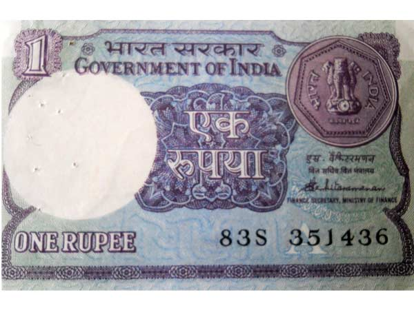 100 years for 1 rupee note