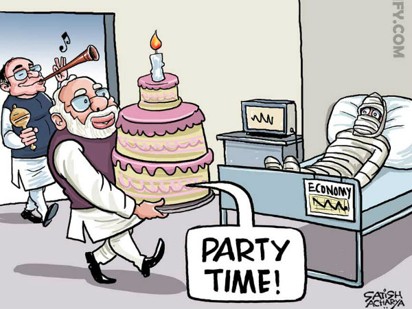 Cartoons On Demonetistion Social Media Blame Pm Modi And His Government