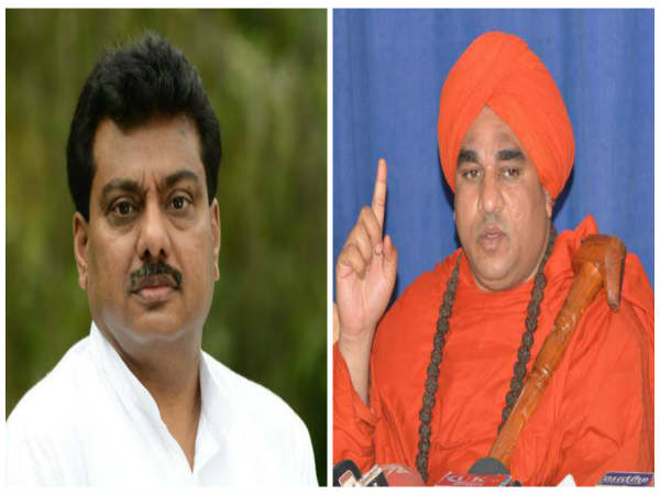 Minister MB Patil defended of Jaya Mruthyunjaya Swamiji's controversial statement
